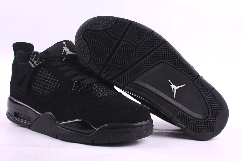 Cheap Air Jordan Shoes 4 Dark Black