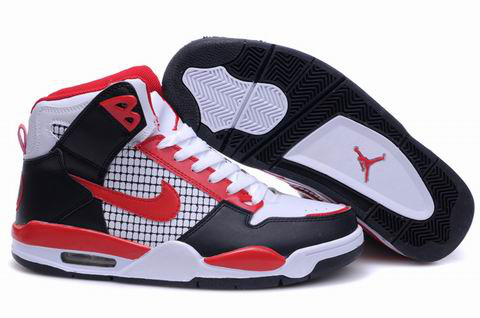 Cheap Air Jordan 4 Shoes High Heel Black White Red