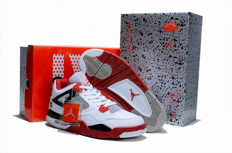 Cheap Air Jordan Shoes 4 Limited Edition White Red Black