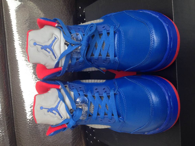 Cheap Real 2015 Jordan Jordan 5 CP3 Blue Red