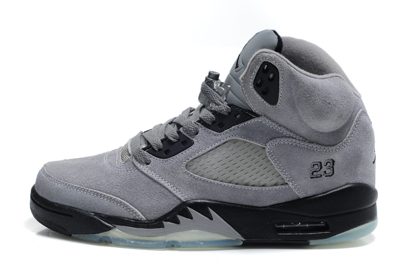 f22181effe9c5c Authentic Air Jordan 5 Suede Grey Black For Women - Cheap Jordans Online
