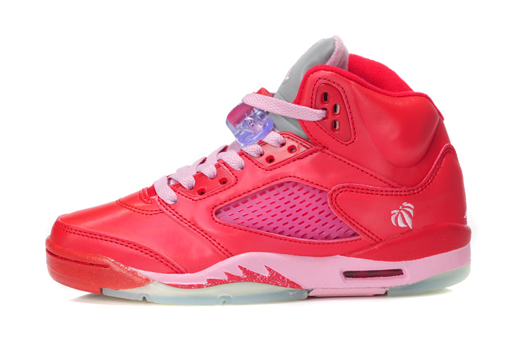 Air Jordan 5 Valentine's Day Red Pink Shoes