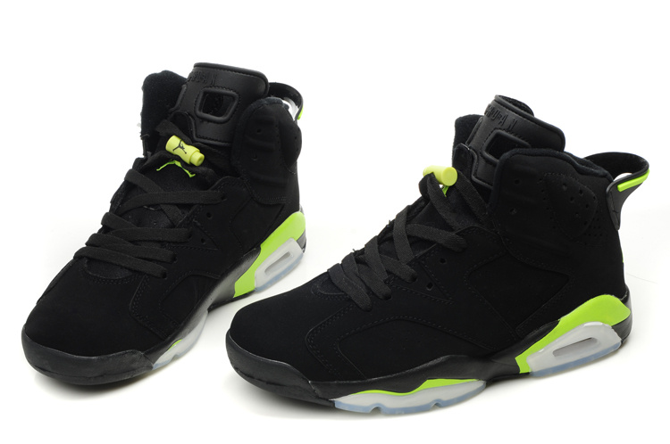 New Air Jordan 6 Black White Green