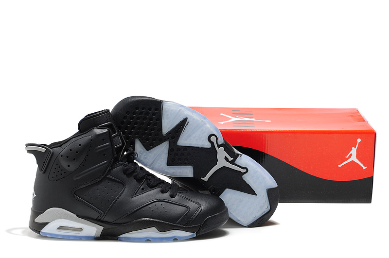 Cheap Air Jordan Shoes 6 Black Grey