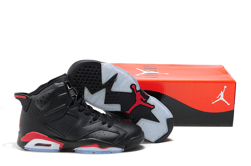 Cheap Air Jordan Shoes 6 Black Red