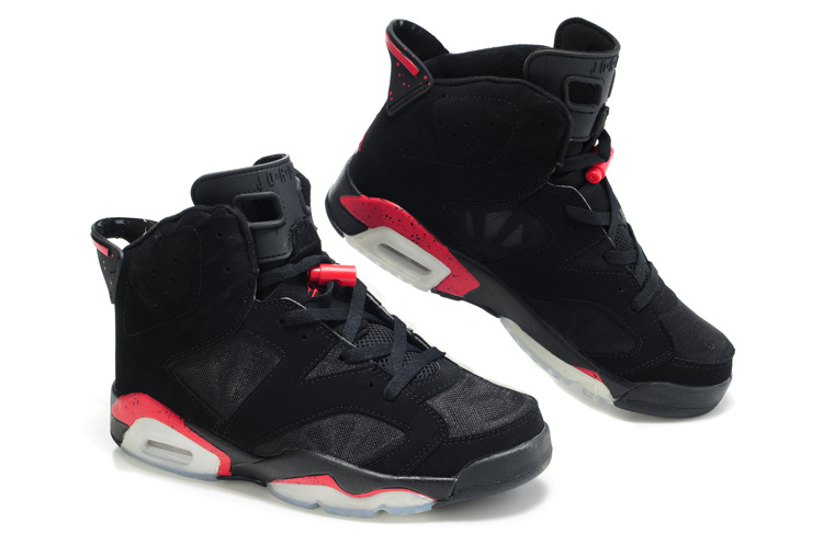 Cheap Air Jordan Shoes 6 Net Vamp Black Red White