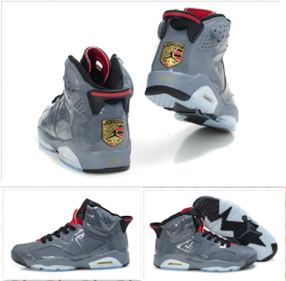 Air Jordan Shoes 6 Porsche Edition Grey White