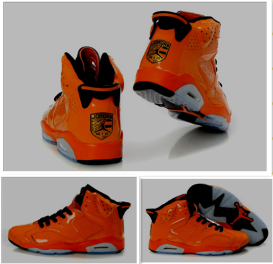 Air Jordan Shoes 6 Porsche Edition Orange Grey