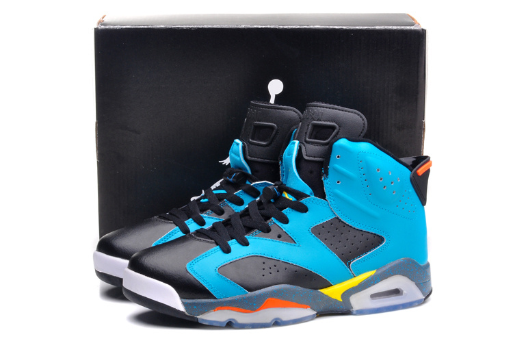 Cheap Real 2015 Jordan Jordan 6 Black Gunfighter Blue