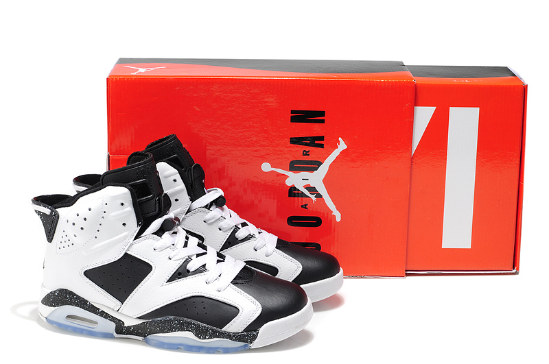 Cheap Air Jordan Shoes 6 White Black