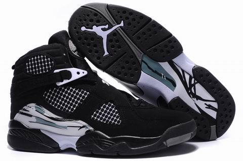 Cheap Air Jordan 8 Shoes Embroider Black White