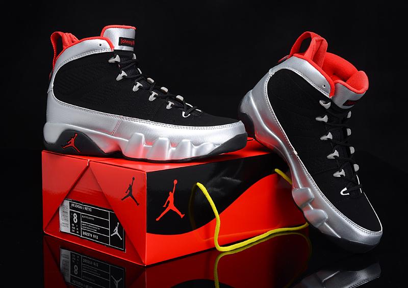 Special Air Jordan 9 Reissue Kilroys Black Silver Red For ...Jordan 9 Black And Red And Silver