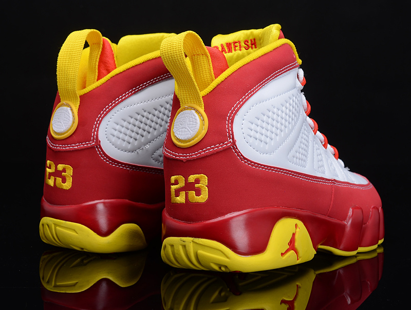 Special Air Jordan 9 Reissue White Red Yellow