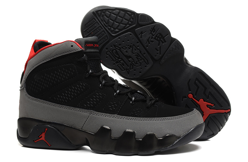 Air Jordan 9 Retro Black Grey with 23 Number