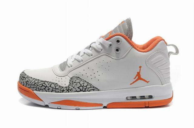 Cheap Air Jordan Shoes After Games II White Orange