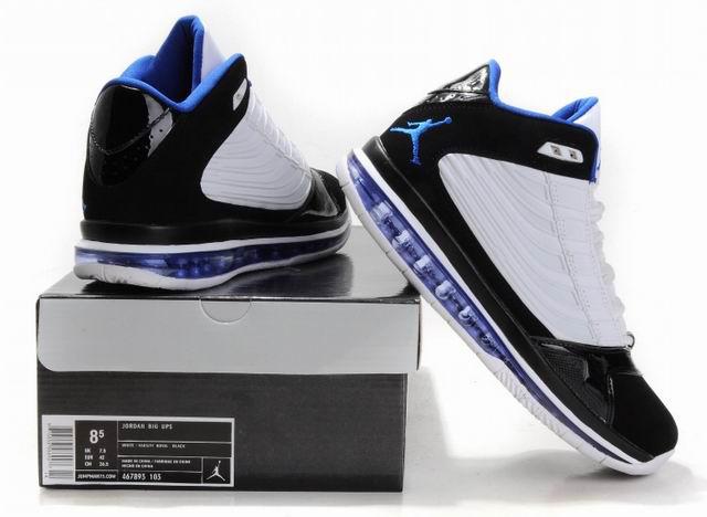Cheap Air Jordan Shoes Big Ups White Black Blue