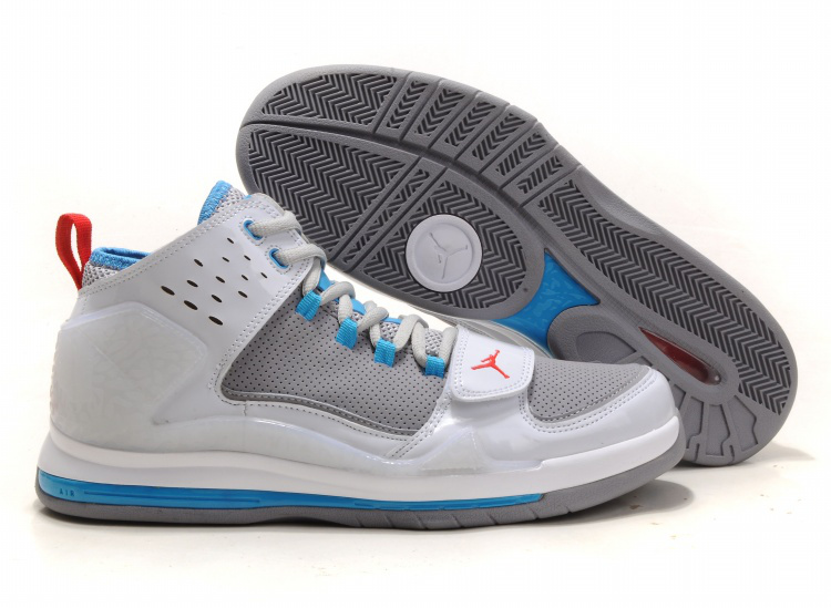 Cheap Air Jordan Shoes Evolution 85 Shoes Black White Grey Blue