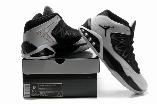 Cheap Air Jordan Shoes Flight The Power Black Grey Shoes