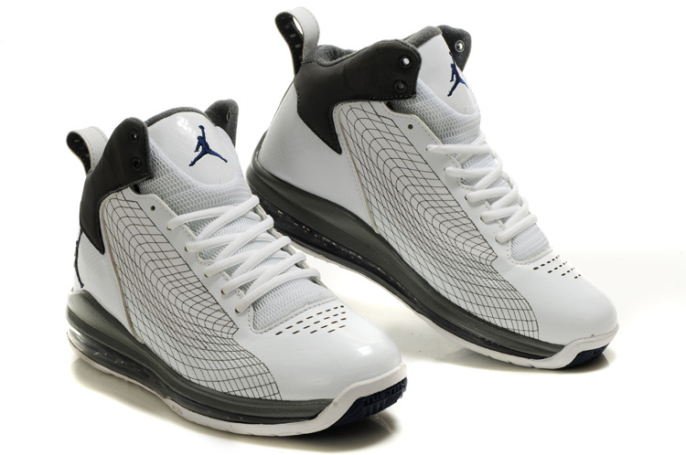 Cheap Air Jordan Shoes Fly Cushion 23 Shoes White Grey Black