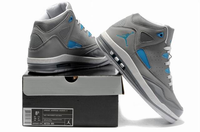 Air Jordan Grey And Blue