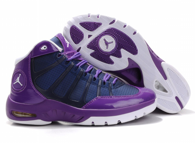 Cheap Air Jordan Shoes Play In Purple White Shoes