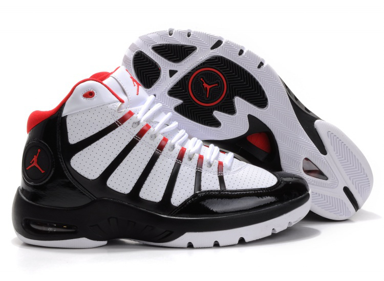 Cheap Air Jordan Shoes Play In White Black Red Shoes