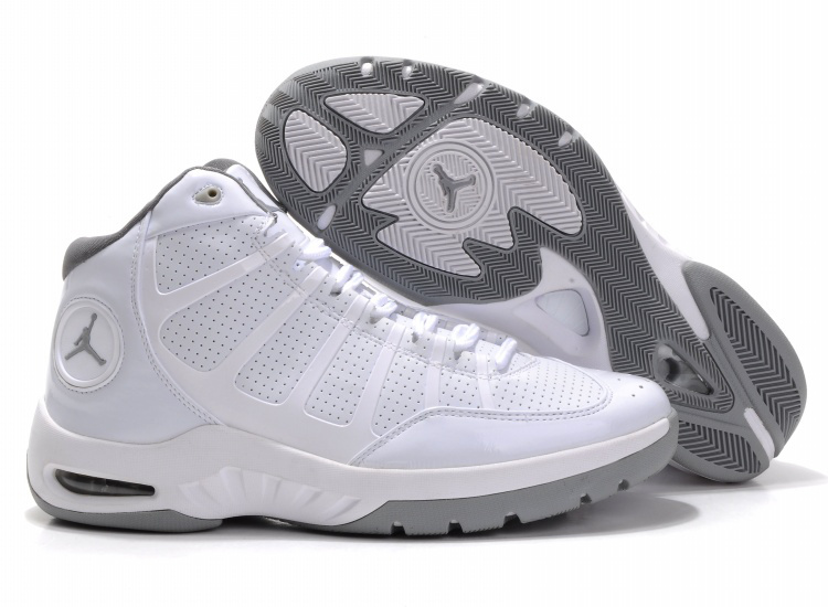 Cheap Air Jordan Shoes Play In White Grey Shoes