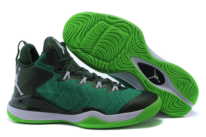 Real Jordan Super.Fly 3 X Green Black White