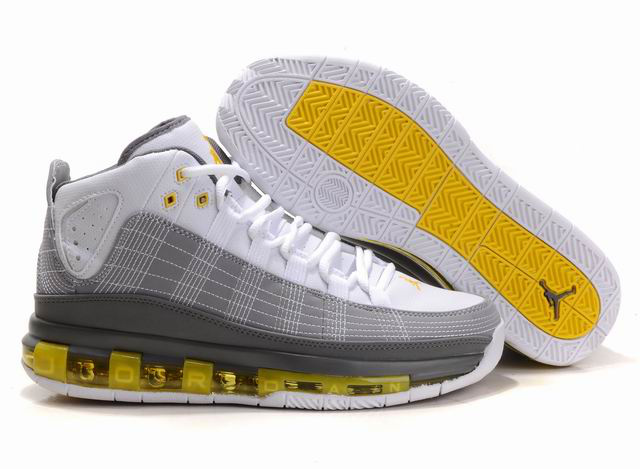 Cheap Air Jordan Shoes Take Flight White Grey Yellow