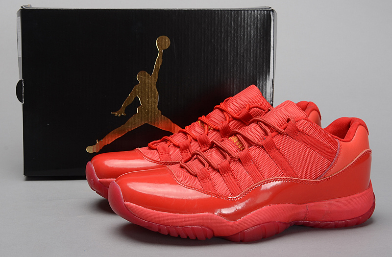 Real All Red Jordan 11 Retro Shoes