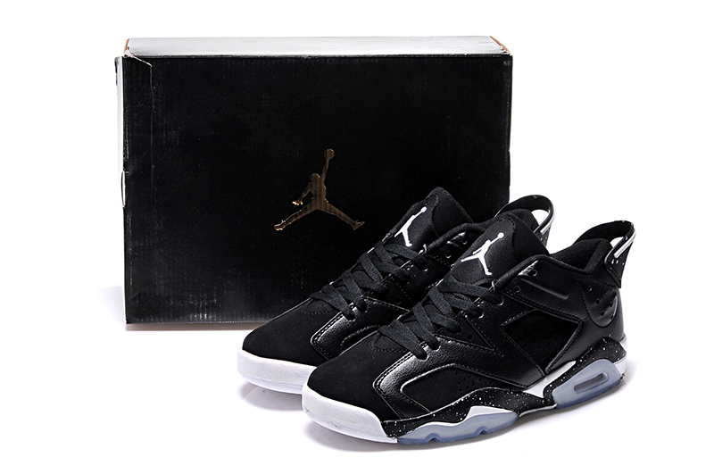 Cheap 2015 Black White Air Jordan 6 Low Lovers Shoes