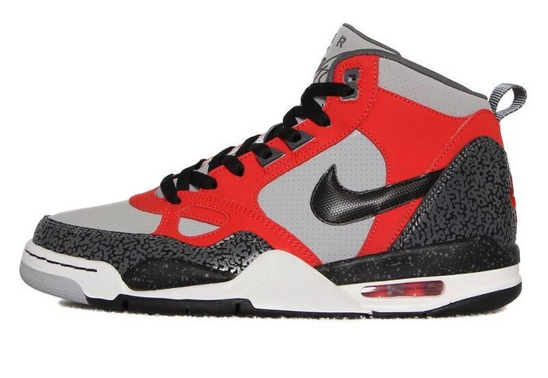Real F Nike Flight13 Mid Jordan 4 Red Grey Black Shoes