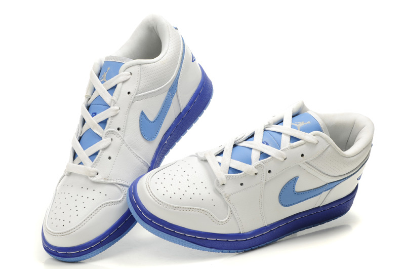New Air Jordan Shoes 1 Low White Light Blue