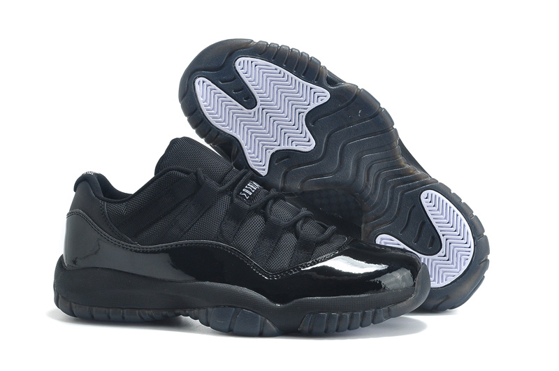 2015 New Arrival Jordan 11 Low Cut All Black Lovers Shoes
