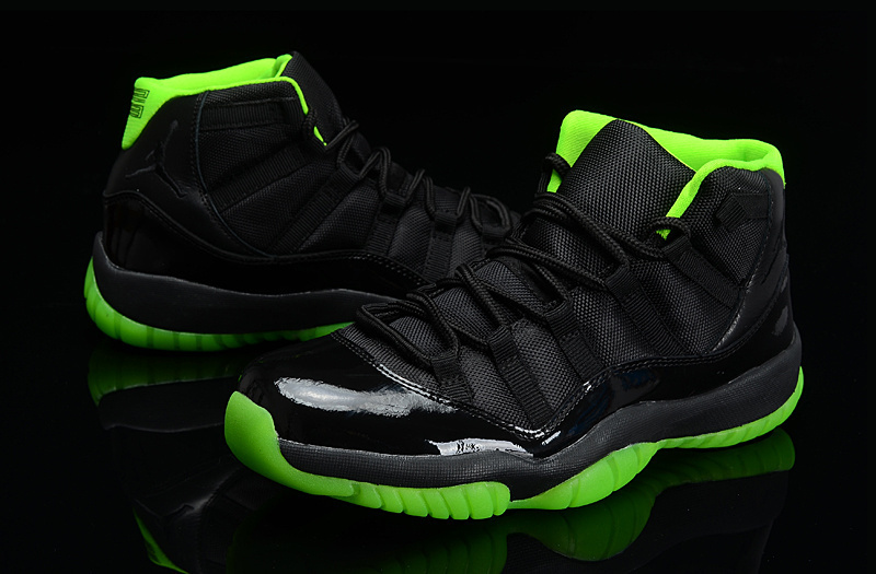 Cheap Real 2015 Jordan Jordan 11 Days Of Flight Black Green