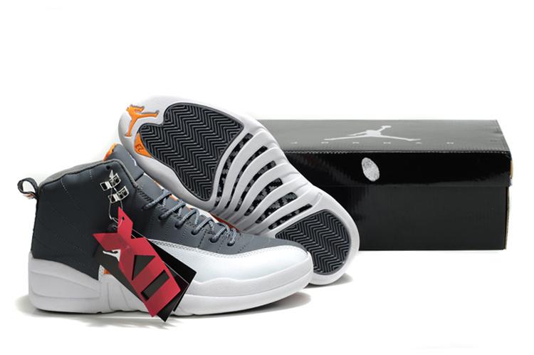 New Air Jordan Shoes 12 Black White Orange