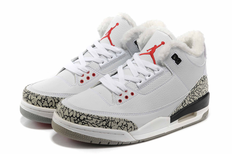 New Air Jordan Retro 3 Wool White Grey Cement