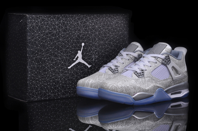 Cheap Real 2015 Jordan Jordan 4 White Grey
