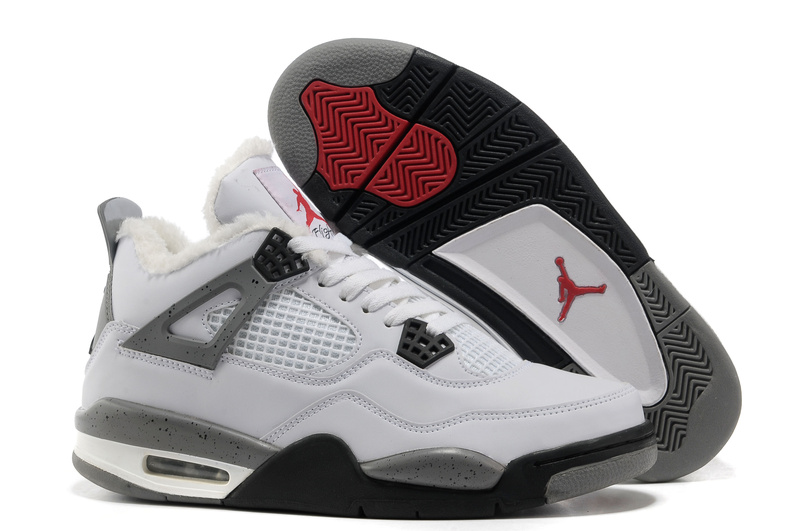 New Air Jordan Retro 4 Wool White Grey Black