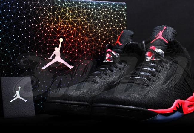 Cheap Real 2015 Jordan Jordan 5 Black Red