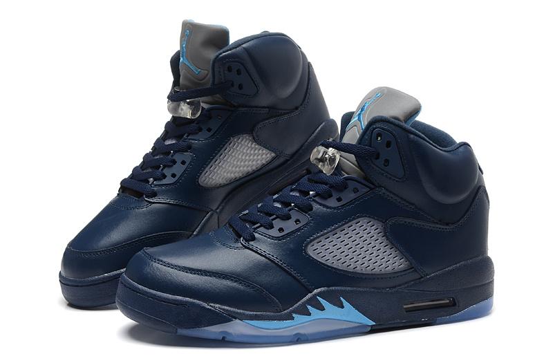Cheap Real 2015 Jordan Jordan 5 Dark Blue