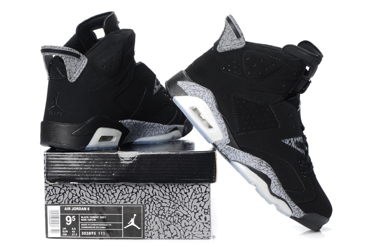 New Air Jordan Shoes 6 Black Grey