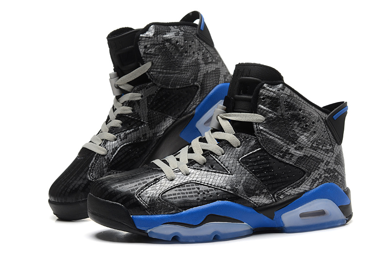 Cheap Real 2015 Jordan Jordan 6 Black Blue Grey