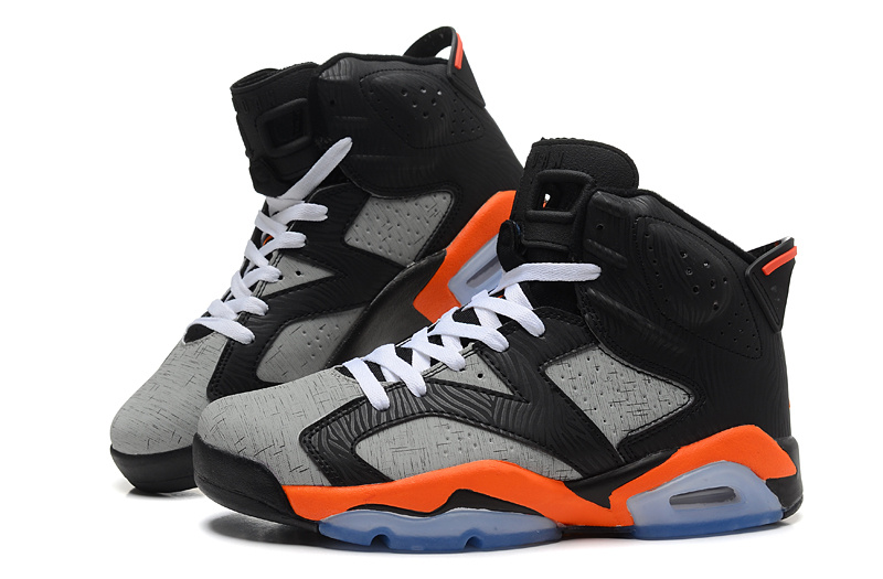 Cheap Real 2015 Jordan Jordan 6 Black Grey Orange