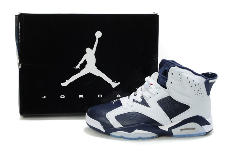 New Air Jordan Shoes 6 White Blue