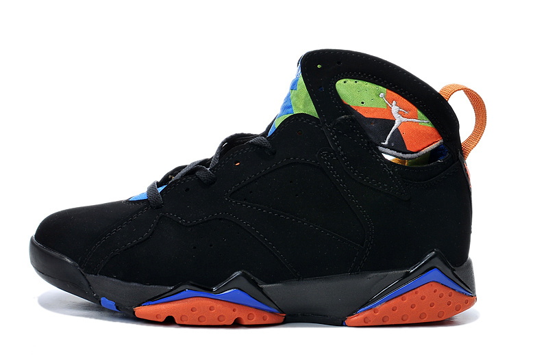 Cheap Real 2015 Jordan Jordan 7 Black Orange Blue