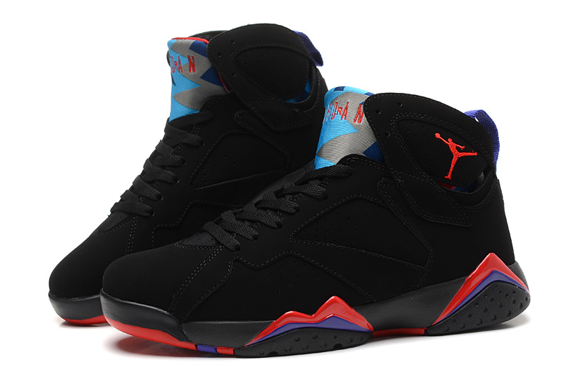 Cheap Real 2015 Jordan Jordan 7 Black Red Blue