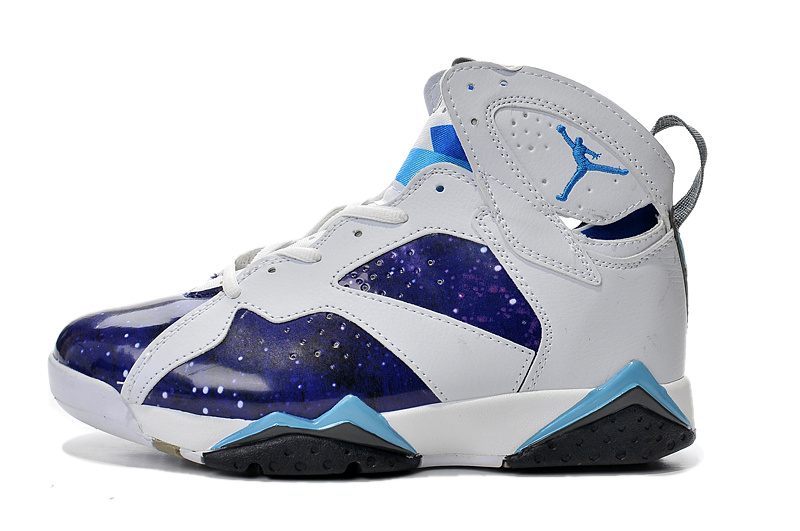 Cheap Real 2015 Jordan Jordan 7 Purple White Light Blue