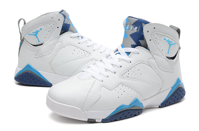 Cheap Real 2015 Jordan Jordan 7 White Baby Blue