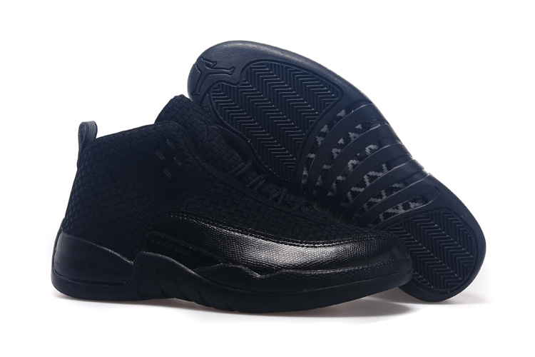 2015 New Arrival All Black Jordan 12 Future Shoes